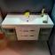 Комплект мебели Fancy Marble: тумба Barbados 2-120 ШН-82 с раковиной Nadja 120, Зеркальный шкафчик MC-Butterfly и пенал SCG MC-Butterfl без подсветки 4