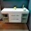 Комплект мебели Fancy Marble: тумба Barbados 2-120 ШН-82 с раковиной Nadja 120, Зеркальный шкафчик MC-Butterfly с LED подсветкой и пенал SCG 0