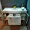 Комплект мебели Fancy Marble: тумба Barbados 2-120 ШН-82 с раковиной Nadja 120, Зеркальный шкафчик MC-Butterfly с LED подсветкой и пенал SCG 1