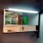 Комплект мебели Fancy Marble: тумба Barbados 2-120 ШН-82 с раковиной Nadja 120, Зеркальный шкафчик MC-Butterfly с LED подсветкой и пенал SCG 3