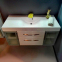 Комплект мебели Fancy Marble : тумба Barbados 2-120 ШН-82 с раковиной Nadja 120, Зеркальный шкафчик MC-Butterfly 1