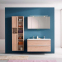 Комплект мебели для ванной комнаты под заказ (Тумба с умывальником, два пенала и зеркальный шкафчик) 1