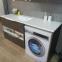 Тумба над стиральной машиной Fancy Marble Vivara 1500 L/R с умывальником Lauretta 1500 8