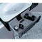 Тумба с умывальником Botticelli TREVISO T-80 черный + серебро 1