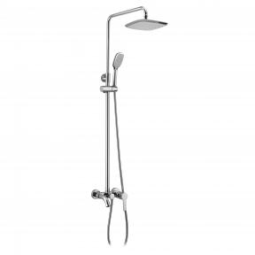 Душевая система Bila Desne T-10155 (смеситель для ванны, верхний и ручной душ 3 режима, шланг 1,5м)