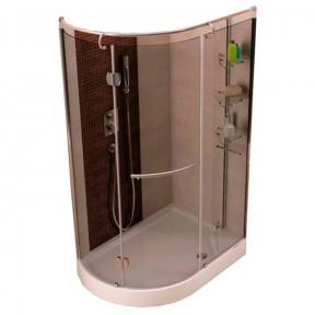 Душевая кабина Aquaform 120х85х200 см левая в комплекте с душевым поддоном 105-05411