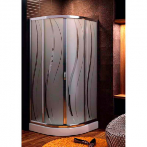 Душевая кабина полукруглая 90х90х185 см без поддона 100-07502