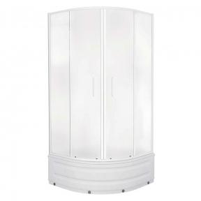 Душевая кабина Eger Tisza Mely 90х90х200 см, на глубоком поддоне, профиль белый, стекло