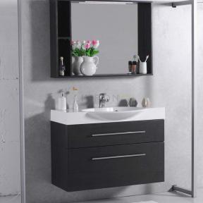Комплект мебели Fancy Marble для ванной комнаты: тумба Sumatra 2 ШН-309 с раковиной Carme 980C (3410101) и LED зеркальным шкафом ШЗ-98 Венге