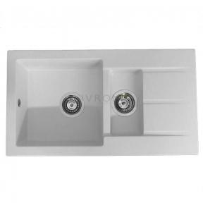 Мойка кухонная Fancy Marble Alabama белая 206080001