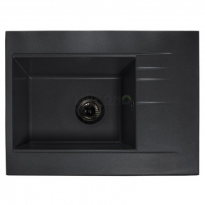 Мойка кухонная Fancy Marble Bodrum 650 светло-черная 115060004