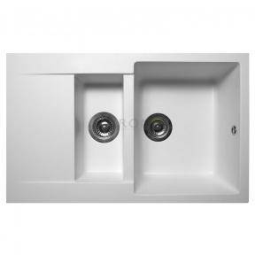 Мойка кухонная Miraggio LaPas белая 110080001