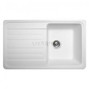 Мойка кухонная Miraggio Versal белая 109070001