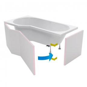 Панель фронтальная для ванны 1950x600 Excellent Be Spot Obex.BSP.16WH
