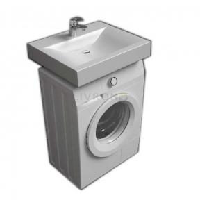 Раковина (умывальник) Fancy Marble над стиральной машинкой с креплением и сифоном 6307101