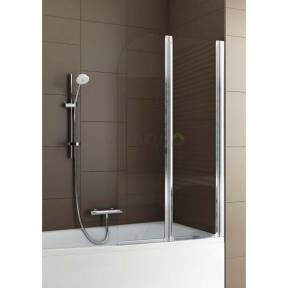 Душевая шторка на ванну двойная полукруглая 170-06963
