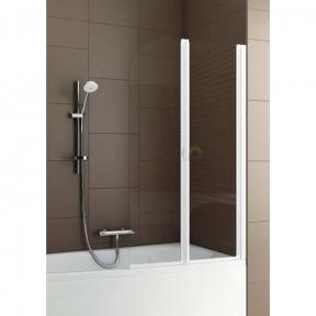 Душевая шторка на ванну двойная полукруглая 170-06965