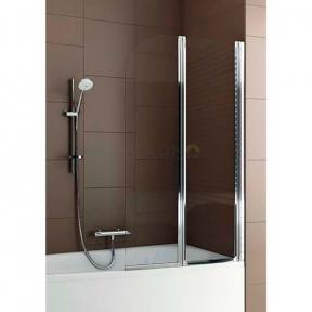Душевая шторка на ванну двойная полукруглая 170-06991