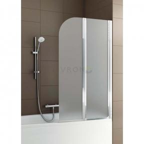 Душевая шторка на ванну двойная полукруглая 170-07011