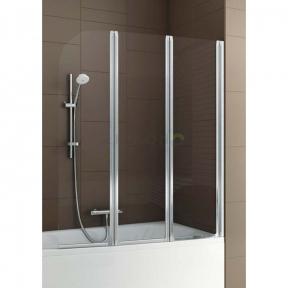 Душевая шторка на ванну тройная полукруглая 170-06956