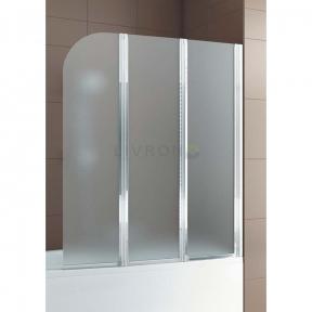 Душевая шторка на ванну тройная полукруглая 170-06979