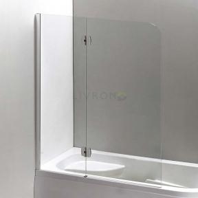 Душевая шторка на ванну двустворчатая Eger 120х150 см, левая, профиль хром 599-120CH/L