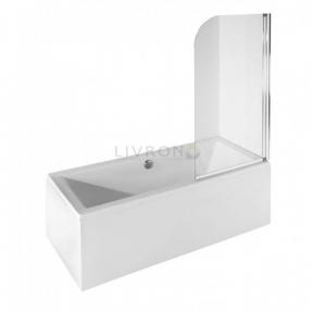 Душевая шторка на ванну Besco PMD ambition-1S 75х130 хром