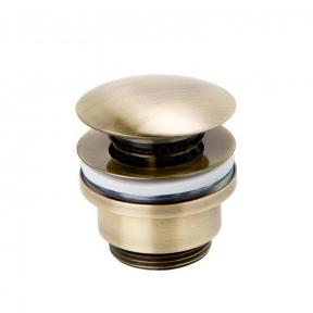 Сливной гарнитур для раковины Genebre Luxe bronze, click pop-up, 1 1/4