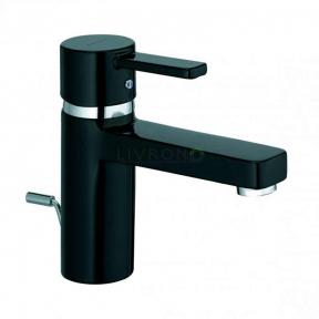 Смеситель для раковины (умывальника) с донным клапаном Kludi Zenta XL black 382608675