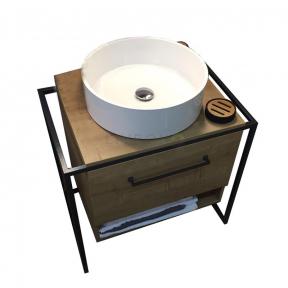 Тумба с умывальником Fancy Marble в стиле лофт (Loft под заказ)
