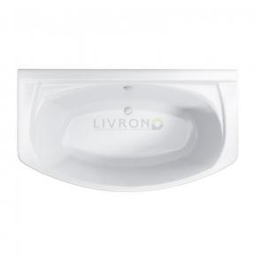 Акриловая ванна Polimat асимметричная Elegance 180x100 + ножки