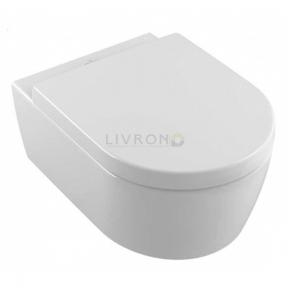 Унитаз подвесной Villeroy&Boch Avento Rimfree DirectFlush 5656HRR1 с покрытием Ceramic Plus c сиденьем Soft close