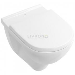 Унитаз подвесной Villeroy&Boch O.Novo Direct Flush 5660HR01 Rimfree c сиденьем Soft close