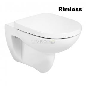 Унитаз подвесной Roca Debba Round Rimless, с сиденьем slow-closing A34H996000
