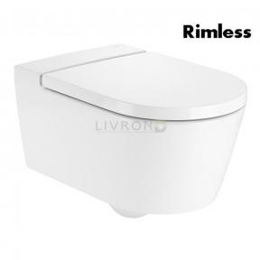 Унитаз подвесной Roca Inspira Round Rimless, с сиденьем slow-closing A346527000