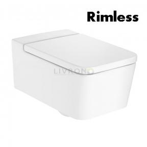 Унитаз подвесной Roca Inspira Square Rimless, с сиденьем slow-closing  A346537000