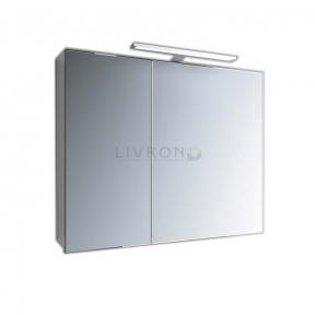Зеркальный шкафчик Marsan Therese-2 с диодной подсветкой 800х650