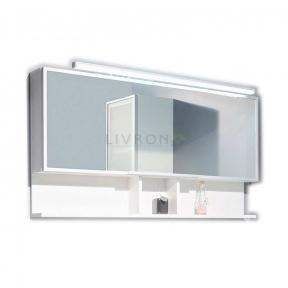 Зеркальный шкафчик Fancy Marble, модель MC-Butterfly LED белый