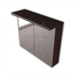 Зеркальный шкафчик Fancy Marble ШЗ-10 венге