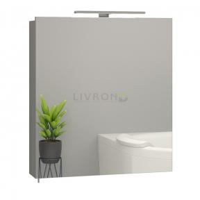 Зеркальный шкафчик с LED подсветкой Sanwerk Everest серый 60