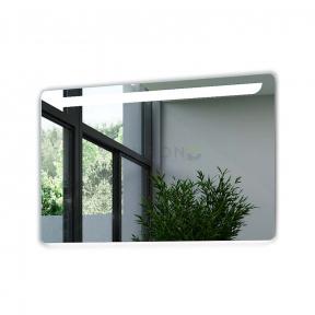 Зеркало на основе с основной LED подсветкой и декоративной подсветкой на стену Marsan Brigitte-2 900x700 (25мм)