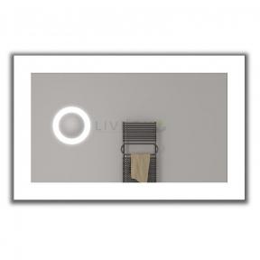 Зеркало на основе с LED подсветкой + встроенное зеркало 5X с подсветкой Livron Normal