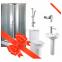 Ванная комната Fiesta (кабина, компакт, умывальник, штанга, душ+2 смесителя)